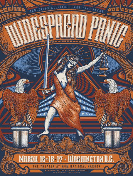 Widespread Panic DC poster