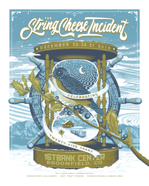 String Cheese Incident poster art - New Year's Eve 2018