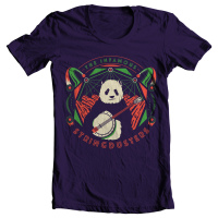 The Infamous Stringdusters - Red Rocks Panda T-shirt Design